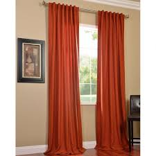 Pumpkin Colored Curtains Decorating Orange Curtains Drapes Window Treatments The Home Depot Teal And
