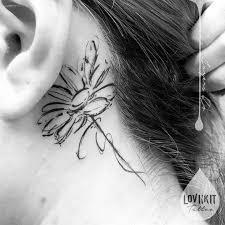 behind the ear tattoos best tattoo ideas gallery