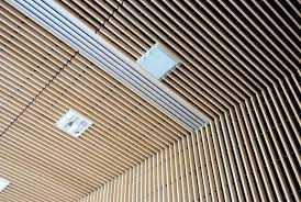 Wood Slat Ceiling System by California Freizeitbad Product Wood Grid