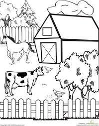 farm animals clipart classroom scene pencil color farm