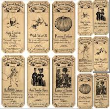 free vintage halloween printables surviving halloween apothecary labels stickers 2 sizes