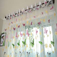 aliexpress com buy romantic butterfly blinds yarn tulle