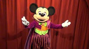 halloween talking mickey mouse tells joke about dracula