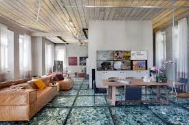 stylish and eclectic design with broken glass floor of lab lz for