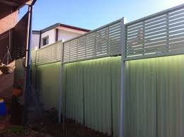 colorbond fence with wood privacy screen google search wooden
