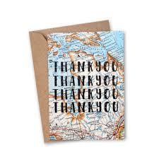 Vintage Map Thank You Thank You U0027 Vintage Map Greeting Card U2013 An Adventure Awaits
