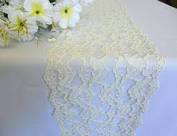 lace table runners wedding ivory lace table runners table runner lace ivory x burlap and lace