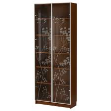 billy bookcase with doors white billy billy valbo bookcase with glass doors medium brown ikea