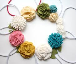 how to make baby flower headbands felt flowers easy layered flower tutorial