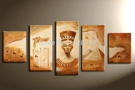sand oil painting on canvas pharaohs and pyramids 5 pcs modern