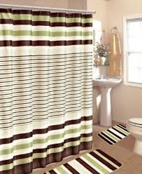 buy 15pc sage brown stripe bathroom bath mats set rug carpet