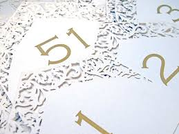 Laser Cut Table Numbers Table Numbers Names Intricate Creations