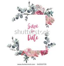 watercolor floral frame border wreath flower stock illustration
