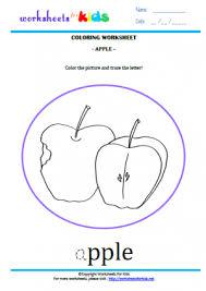 8 coloring u2013 apple worksheets for kids