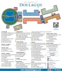 Mall Of America Store Map by Directory Map The Shops At Dos Lagos