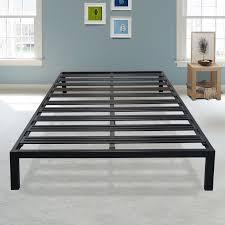 Metal Platform Bed Frame Latitude Run Vasquez Black Metal Platform Bed Frame Reviews