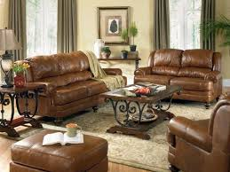 Brown Leather Sofa Living Room Decorating Leather Sofa Catosfera Net
