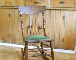 upholstered rocking chair etsy
