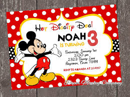 mickey mouse birthday invitations template free invitations card