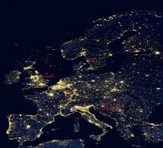 World Map At Night by Europe At Night 1920 X 1080 Wallpapers