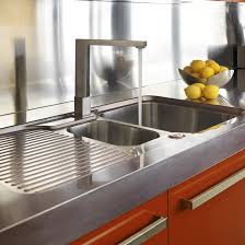 Be Inspired By A Bold Chocolate And Orange Kitchen Ideal Home - Kitchen sink area