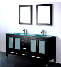 Modern Bathroom Vanities And Cabinets by Amara 72 Inch Modern Glass Top Double Bathroom Vanity
