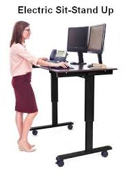 sit stand computer desk electric standing computer desks oceanpointe distributors corporation