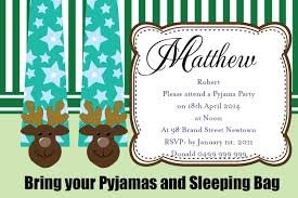 pajama birthday party invitations home party ideas