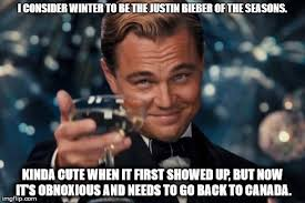 Beiber Meme - i consider winter to be the justin bieber of the seasons kinda cute