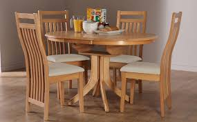 round kitchen table seats 6 hudson bali round extending oak dining table and 4 6 chairs set