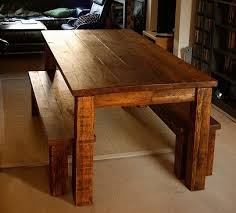 Farm Table With Bench And Chairs Custom Farm Table And Bench Set By Tall Timber Furniture