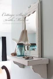 Cottage inspired Mirror With Shelf