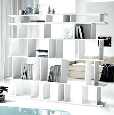 White Open Bookcase Bookcase White Minimalist Bookshelves Idea As Room Partition