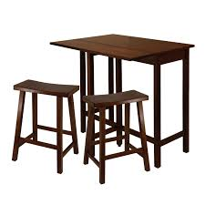 Drop Leaf Counter Height Table Winsome Trading Lynnwood 3 Piece Counter Height Dining Table Set