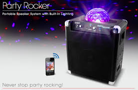 ion portable speaker system with party lights ion party rocker portable speaker system projects cool lights