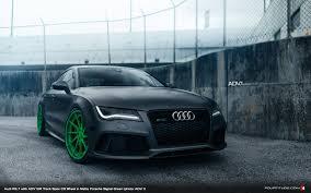 audi a4 matte black matte signal green adv 1 wheels on this audi rs 7 are a hulk smash
