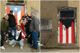 Garage Door Murals For Sale Man Admits Painting Swastika Over Puerto Rican Flag Mural Nj Com