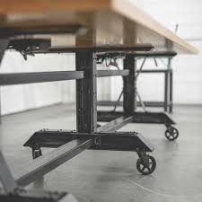 Industrial Standing Desk by Conference Table Meeting Room Table Co Working Table Community