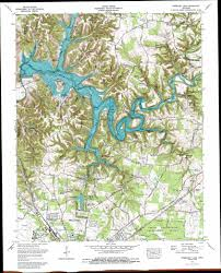 Chattanooga Tennessee Map by Normandy Lake Topographic Map Tn Usgs Topo Quad 35086d2