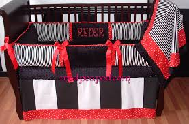 Baby Boys Crib Bedding by Bailey Red Baby Bedding Red And Black Crib Set 279 00