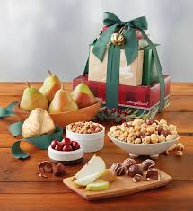 Christmas Basket Holiday Tower Of Treats Gift Christmas Basket Ideas Harry U0026 David