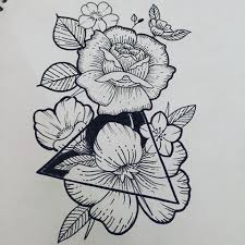 tattoo flower drawings image result for triangle and flower tattoo tattoos pinterest