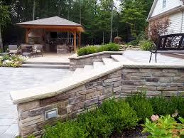 backyard pool area and bar