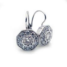 leverback earrings vintage inspired diamond leverback earrings reuven gitter jewelers