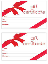 gift certificates free gift certificate template customize online and print at home