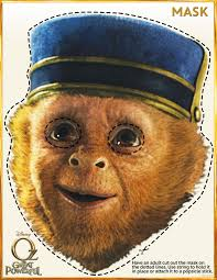 oz the great and powerful printable monkey mask mama likes this