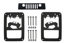 jeep wrangler brake light cover jeep wrangler aluminum tail light guards includes third brake light