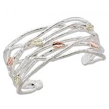 cuff bracelet sterling silver images Landstrom 39 s black hills gold on sterling silver cuff bracelet jpg