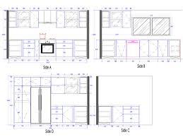 2d Kitchen Design 28 Kitchen Details And Design Elevation Drawings Cabinet