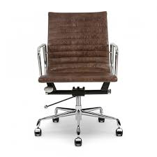 fauteuil de bureau marron grey back style ribbed office chair cult uk